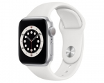 Apple Watch Series 6 GPS 40mm Silver Aluminum Case White Spo...