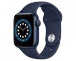 Apple Watch Series 6 GPS 44mm Blue Aluminum Case Deep Navy S...