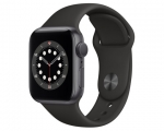 Apple Watch Series 6 GPS 40mm Space Gray Aluminum Case Black...