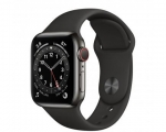 Apple Watch Series 6 GPS + Cellular 44mm Graphite Stainless ...