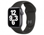 Apple Watch SE GPS 44mm Space Gray Aluminum Case Black Sport...