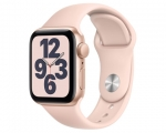 Apple Watch SE GPS 44mm Gold Aluminum Case Pink Sand Sport B...