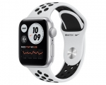 Apple Watch Nike SE GPS 44mm Silver Aluminum Case Pure Plati...