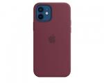 Чехол Apple Silicone Case Plum для iPhone 12/12 Pro with Mag...