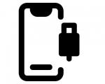 Замена нижнего системного шлейфа iPhone SE