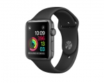 Apple Watch 38mm Series 1 Space Gray Aluminum Case with Blac...