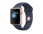 Apple Watch 42mm Series 1 Rose Gold Aluminum Case with Midni...