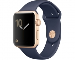 Apple Watch 38mm Series 1 Gold Aluminum Case with Midnight B...