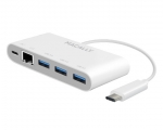 Адаптер Macally 3 Ports USB 3.1/USB-C wEthernet
