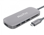 Адаптер HooToo Shuttle 3.1 Type C Hub Space Gray