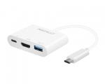 Адаптер Macally USB-C Port to HDMI/USB/USB-C