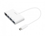 Переходник Macally USB-C – USB-A with Ethernet (UCHUB3GB)