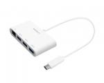 Переходник Macally USB-C – USB-A with Ethernet (UCHUB3GB)
