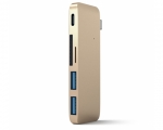Переходник Satechi Type-C USB 3.0 Passthrough Hub Gold (ST-T...
