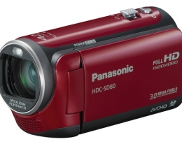 Видеокамера Panasonic HDC-SD80 Red